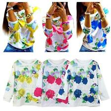 Blouse 3/4 Sleeve Regular Floral Tops & Shirts for Women