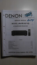 Denon avr-610 service manual original book av surround receiver tuner radio