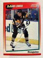 1991-92 Score Canadian - MARIO LEMIEUX #200 Pittsburgh Penguins