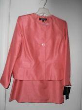 Kasper Silk look , suit  size 16P JACKET & size 14 SKIRT set NEW