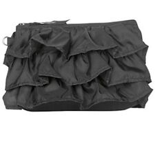Thirty one mini zipper pouch wallet 31 gift black ruffle lace new retired c