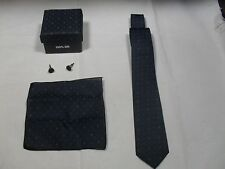 100% Silk Necktie, Handkerchief and Cufflinks Set~ NIB (#5)