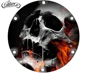 2004-2021 HARLEY DAVIDSON SPORTSTER 883 1200 DERBY CLUTCH COVER Flaming Skull