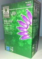 Home Accents Holiday Purple Mini LED Light Set 100 Halloween Light
