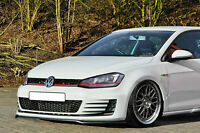 FOR VW GOLF VII MK7 GTI FRONT BUMPER LOWER LIP SPOILER CUP CHIN VALANCE SPLITTER