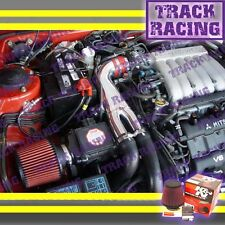 91-99 3000GT GTO DODGE STEALTH VR4 3.0L V6 TURBO Y AIR INTAKE KIT + K&N Red