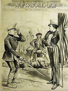 Morgan Santiago de Cuba SURRENDER VIRGINIUS Uncle Sam Captain Fry 1873 Art Mat