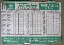 SCHEDINA Totocalcio partite del 25-10-1970 -  [AF-F4]