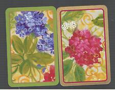 Playing Swap Cards  2  SEMI  VINT   DELUXE  GENUINE CASPARI   FLOWERS  W562