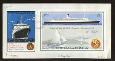 TRISTAN DA CUNHA 1979 QE2 VISIT signed FIRST DAY COVERS...7 SIGNATURES..2 COVERS