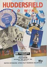 Huddersfield Town v Fulham 90-91 partido de Liga