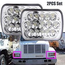 "For International Harvester 4700 4900 CREE 7x6""LED Sealed Headlights Beam 5x7""2x"