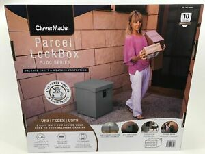 Clevermade Parcel Lockbox UPS FEDEX USPS Package Theft & Weather Protection NEW