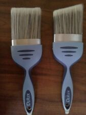 """2 DULUX  PERFECT EDGES PAINT BRUSHES INCLUDES   3"""" INCH - 75MM + 3""""ANGLED 75MM"""
