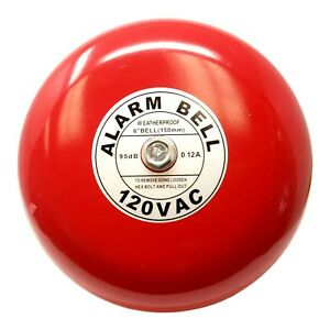 "Fire Alarm Bell, 120 Volt AC, 6"", Security Alarm Bell 120 volt ac"
