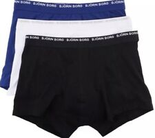 Brand New Bjorn Borg Mens 3 Pack Black-Blue-White Short Shorts Size XXLarge