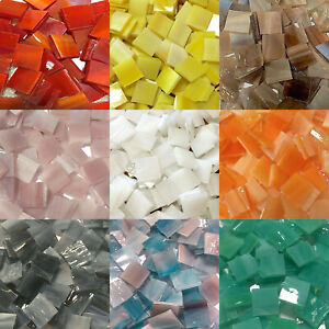 "1/2"" Mosaic Tiles Stained Glass Mosaic Tiles - Available in Variety Colors"