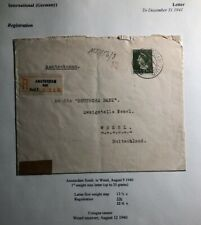 1940 Amsterdam Netherlands censored Registered Cover To Wesel Germany