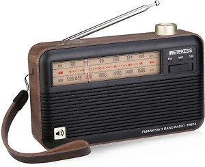 Retekess TR614 Portable Shortwave Radios, AM FM Radios with Best Reception, Retr