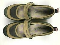 MERRELL  QFORM Womens Leather Slip On Strap Shoes Size 8 Dusty Olive
