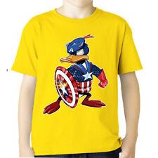 CAPTAIN AMERICA AVENGERS tshirt SCUDO PAPERO DUCK Donald t-shirt taglie FINO 5XL