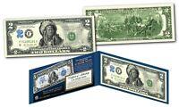 Native American Indian Chief 1899 Design on Genuine Legal Tender Modern $2 Bill