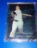 MICKEY MANTLE 1957 TOPPS FINEST REFRACTOR BASEBALL CARD 7, Reprint Topps 1996