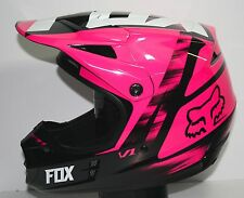 Open Box Fox Racing V1 Vandal MX Off Road Dirt Bike Helmet Pink Adult XS