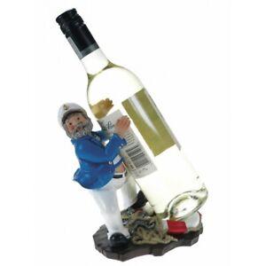 Comical Resin Sailor Wine Bottle Holder with Lifebuoy for Bottle Support