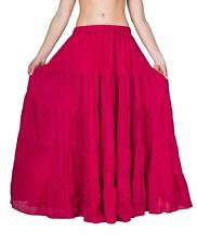 Women's Long Skirt Free Size Comfortable Casual Fully Flayed piece 100% Cotton