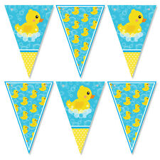 Lovely Bubbly / Rubber Duck / Christening / 1st Birthday / Bunting 12 Flags