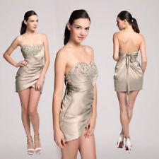 Clubwear Satin Short Sleeve Dresses for Women