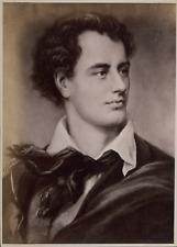 Portrait de Lord Byron, Photo illustration, ca.1880, Vintage albumen print vinta