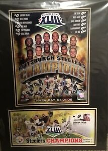 Pittsburgh Steelers Super Bowl 43 Champs Photo File Commemorative Stamp