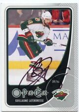GUILLAUME LATENDRESSE WILD AUTOGRAPH AUTO 10/11 O-PEE-CHEE OPC #175 *38192