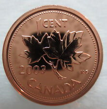 2003WP CANADA 1 CENT STEEL PROOF-LIKE MAGNETIC PENNY COIN