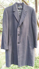 "blackish vintage Kuppenheimer Tigertwist wool coat 49"" around chest 26"" sleeves"