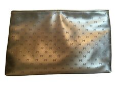 Thierry Mugler Zipped Silver Make Up Cosmetics Pouch Bag *New*