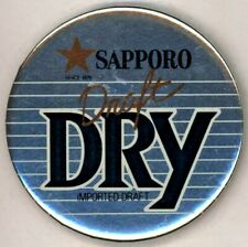 "1980's Sapporo Draft Dry 3"" Pinback Button"