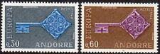 Andorra, French Administration Scott #182-83 VF Unused 1968 Europa Set