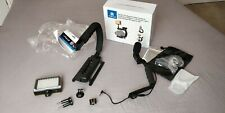 Puluz U/C shape portable handheld DV bracket stabilizer + LED + Microphone kit