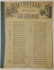 Mireille, opéra de Ch. Gounod, partition pour la valse-ariette, fin19e-début20e