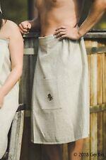 Sauna Skirt 75% Linen Wrap Kilt Apron 75x145 cm Men Towel Bath SPA Absorbent