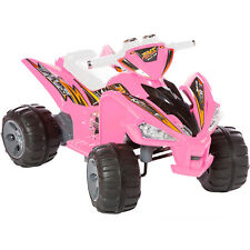 New Kids Ride On Car-quad Pro Raptor Style 12v Electric Battery Toy ATV In Pink