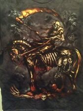 New DEATH DEALER REAPER DEATH ON A SKELETON HORSE T SHIRT Size S Small
