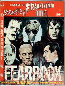 CASTLE of FRANKENSTEIN MONSTER 1967 ANNUAL FEARBOOK with Light Vertical Crease!