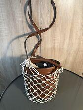 Steve Madden Rope Net Mermaid Bucket Bag Crossbody Brown MSRP $88.00