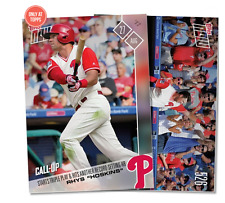 STARTS TRIPLE PLAY & HITS ANOTHER RECORD  HR - RHYS HOSKINS MLB TOPPS NOW 526