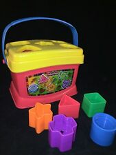 Fisher Price Baby Sorter Colorful Shape Blocks Kid Interactive Learning Toys