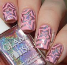 Star Spirals, Nail Art, Nail Vinyl, Nail Stencil, Nail Stickers 20 count